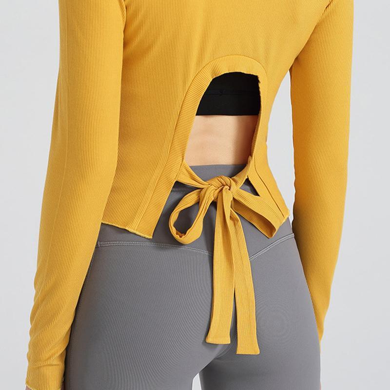 Kadınlar Tacksuits Gym Fitness Kadınlar Sports Uzun Kollu Sport Üst Kız Katı Sonbahar için Spor Aktif Giyim Yoga tişört Tops