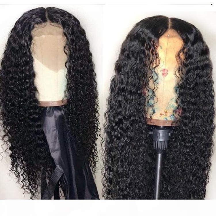 Oído 9A Grado rizado rizado brasileño pelucas del pelo humano peruano rizado rizado del cabello humano a oreja encaje frontal de la peluca 4x13 cordón del pelo humano peluca delantera