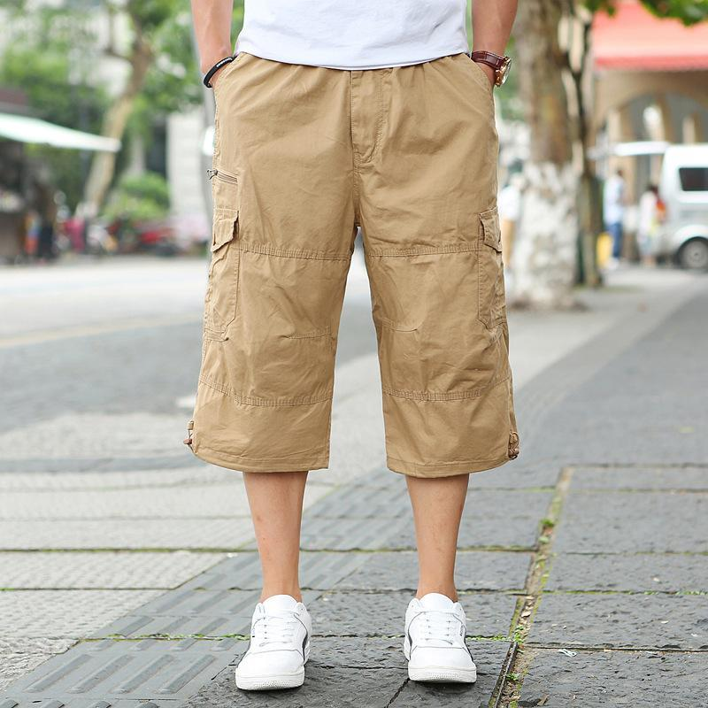 estate grande breve formato tuta nuova dimensione di grandi dimensioni pantaloni corti pantaloni di cotone multi-tasca degli uomini più 6XL 5XL