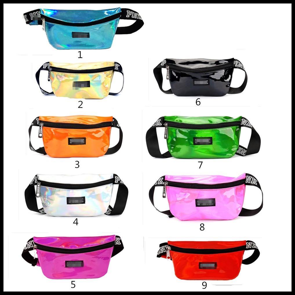 Wholesale 9 Colors MAKE UP Printed Letter Fanny Pack Beach Travel Cosmetics Shoulder Bag Pink Waist Bag Chest Bags Waistpacks