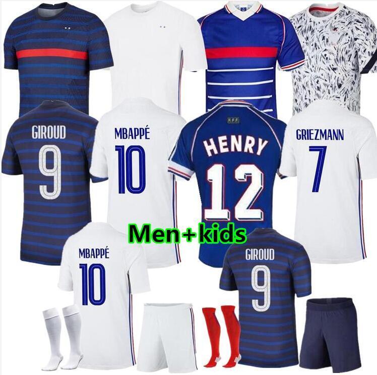 Men Women Kids Fran#cess Jersey Soccer LE SOMMER HENRY KYLIAN MBAPPE ANTOINE GRIEZMANN PAUL POGBA GIROUD ZIDANE KANTE LLORIS Football Kits