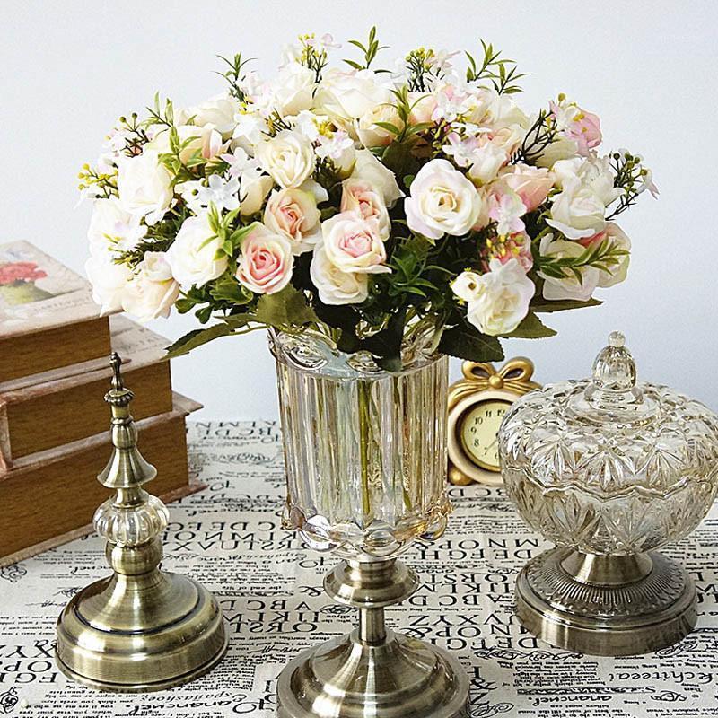 VacLO Fake Rose Silk Flower Fall Gerbera Daisy Flor de plástico artificial para el boda Accesorios para el hogar Decoración de la decoración1