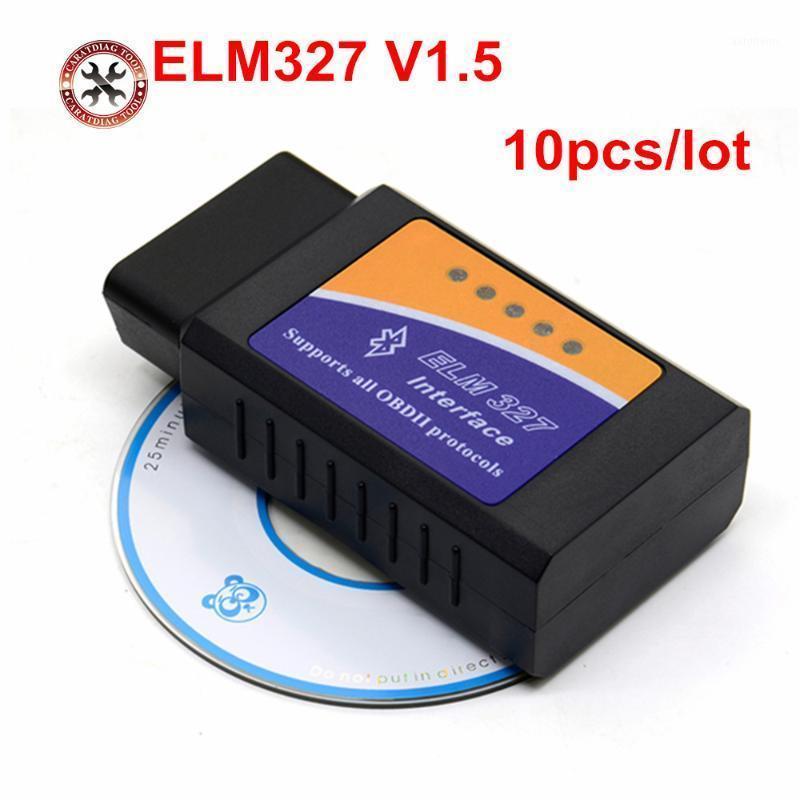 10 unids / lote Elm327 Bluetooth V1.5 Hight Quality para Android Torque OBD2 Diagnostic t Elm 327 Bluetooth con PIC18F25K80 Free Ship1