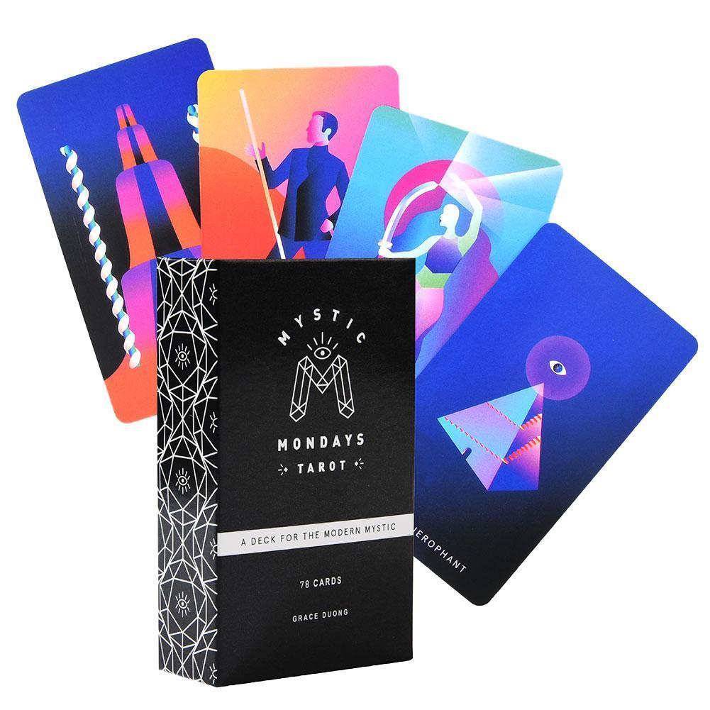 Tablero Familia partido de la tarjeta de Oracle magia 78pcs Paquete Mystic Tarot Card lunes Inglés Guía de la Carta del Tarot Juego yxlzJg xhhair