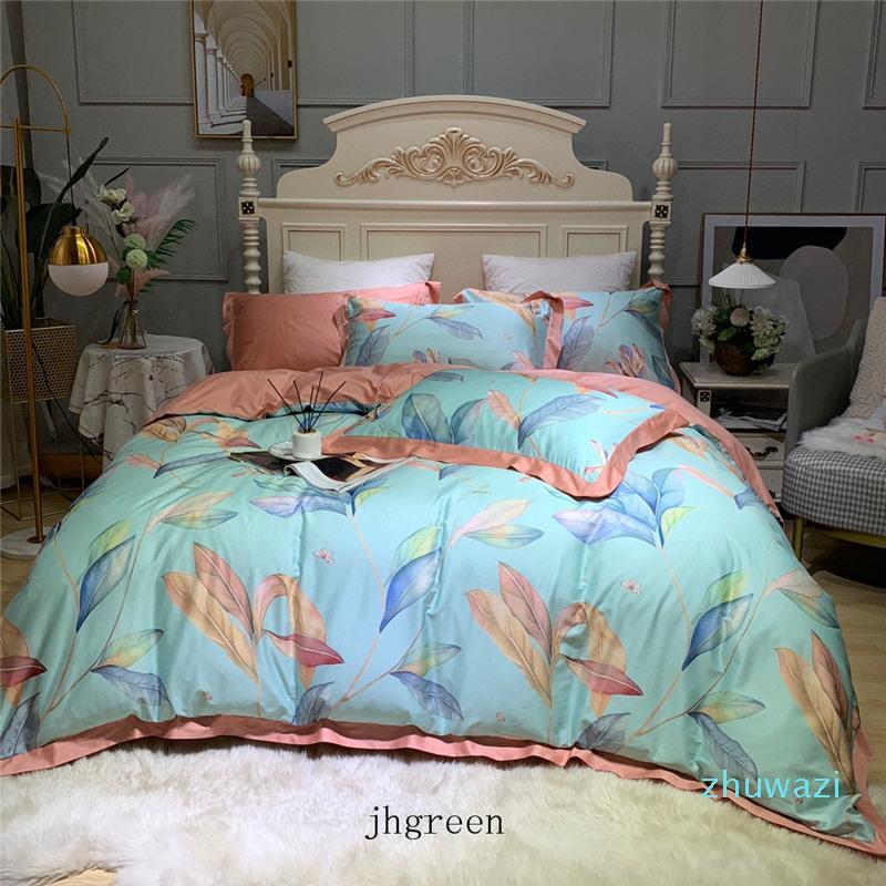 3D Schmetterling Blätter drucken Bettwäsche Sets King Size Luxus Quilt Cover Kissenbezug Queen Größe Duvet Cover Designs Bettdecken Bettdecken Sets