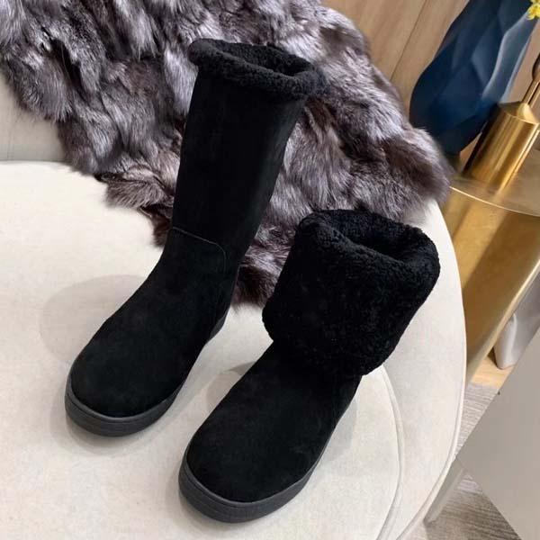 Breve stivali piatti di fondo di nuova qualità-Superior donne di lusso della pelle di pecora con la lana Martin stivali da lavoro Stivali 35-41 con la scatola