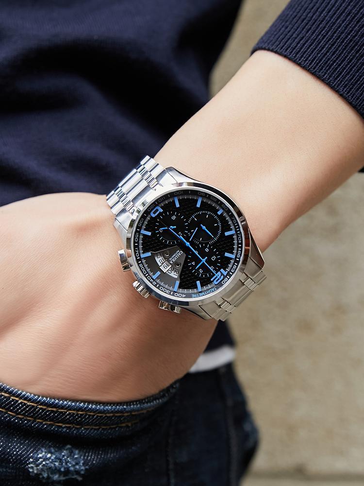 Часы Mens Caluola Автоматические механические часы Прекращенные мужские стальные ремень Смотреть знаменитый бренд подлинный досуг водонепроницаемый топ-десять часов
