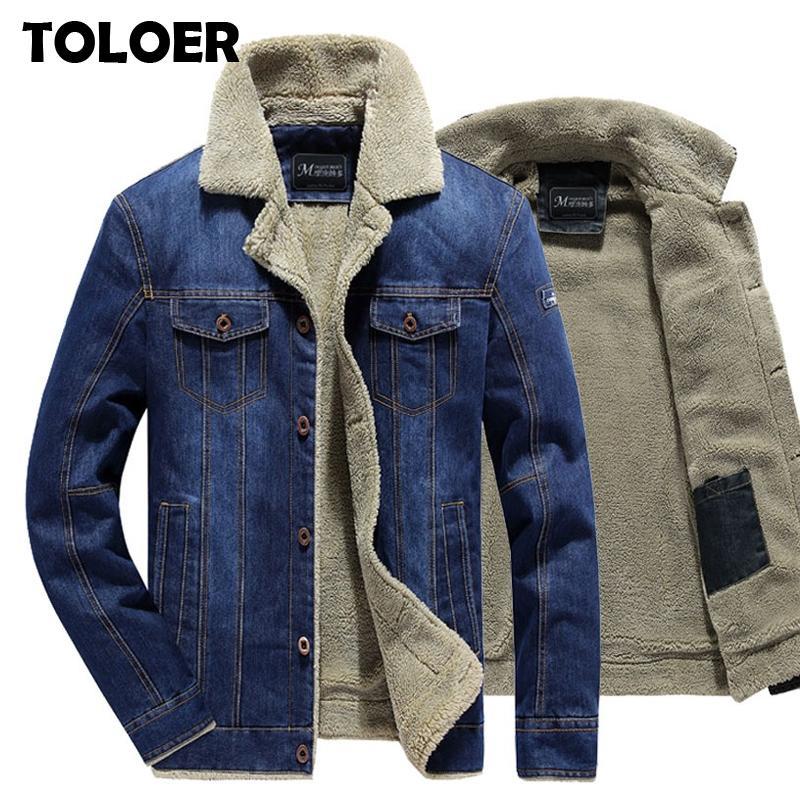 2020 Winter Men Fashion Casual Jeans Man Warm Fat Denim Jas Male Bonk Crow Bomber Jackets Overwear