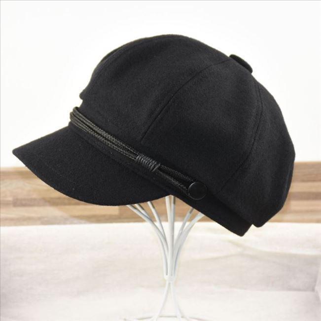 Novo estilo macrocefalia lã octogonal bonés homens e mulheres retrô casual versátil cricket-tampa boina grande tamanho chapéu chapéu outono e winte