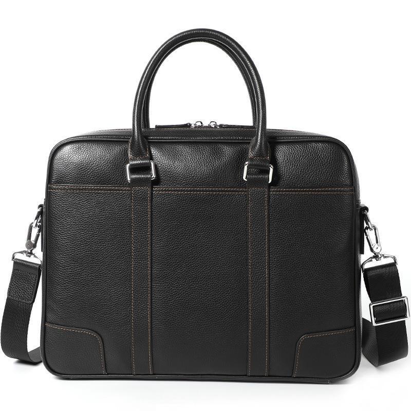 Briefcases Grande piumino naturale uomo valigetta Brandcase designer in vera pelle in vera pelle tote work borse borse per laptop borse da ufficio