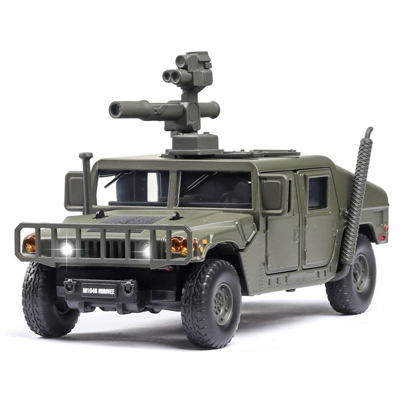 1:32 هامر M1046 نموذج السيارة العسكرية انفجار مقاوم للانفجار مركبة مصفحة مع الصوت ضوء سبيكة لعبة سيارة نموذج دييكاست لعبة المركبات Y200109