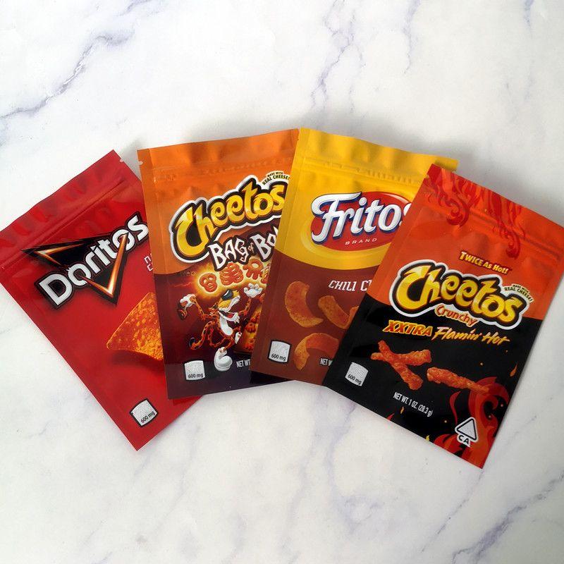 جديد وصول 600mg Cheetos Maylar كيس دوريتوس جبنة GUMMI دودة حقيبة Cheetos للأكياس تغليف BONE الكشكشة Errlli