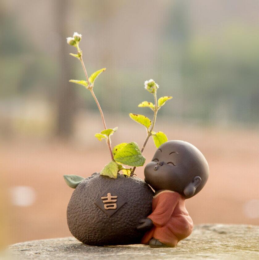 Исин Zisha чай Pet Творческий Vase Малый стол украшения ручной работы украшения Monk