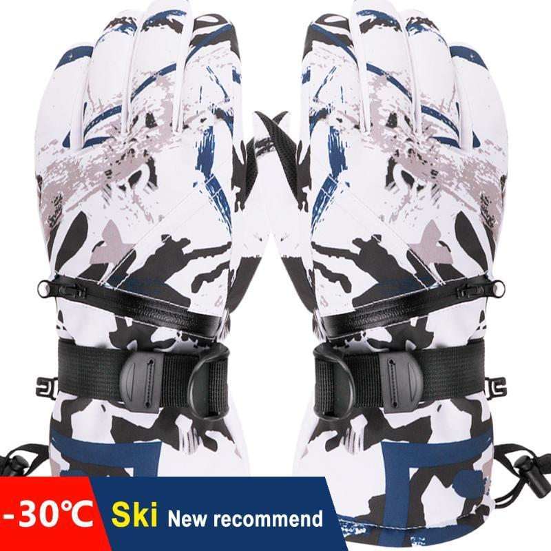 Männer Frauen Jugendliche Skihandschuh verdicken Ultra-light wasserdichte Touch Screen Snowboard Skiiing Handschuhe Winter Motor Radfahren Warm Handschuhe