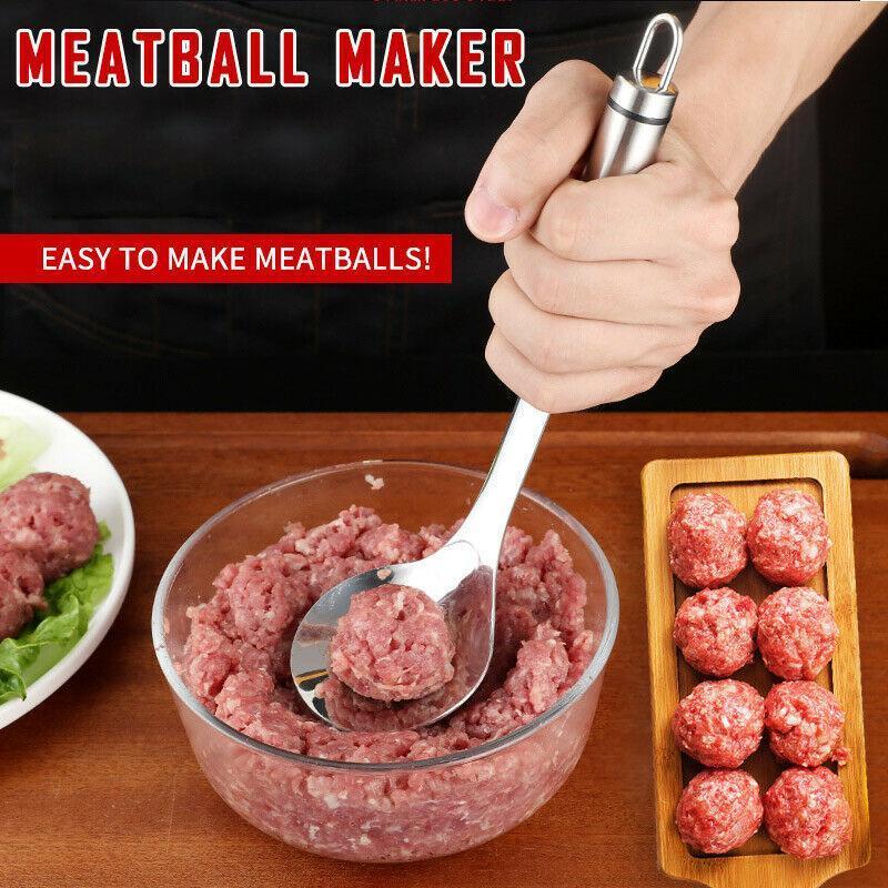 Conveniente Meatball Maker Scoop Aço Inoxidável Bola de Carne Colher DIY Pressionado Carne Ferramentas de Cozinha Gadget H Jlludd