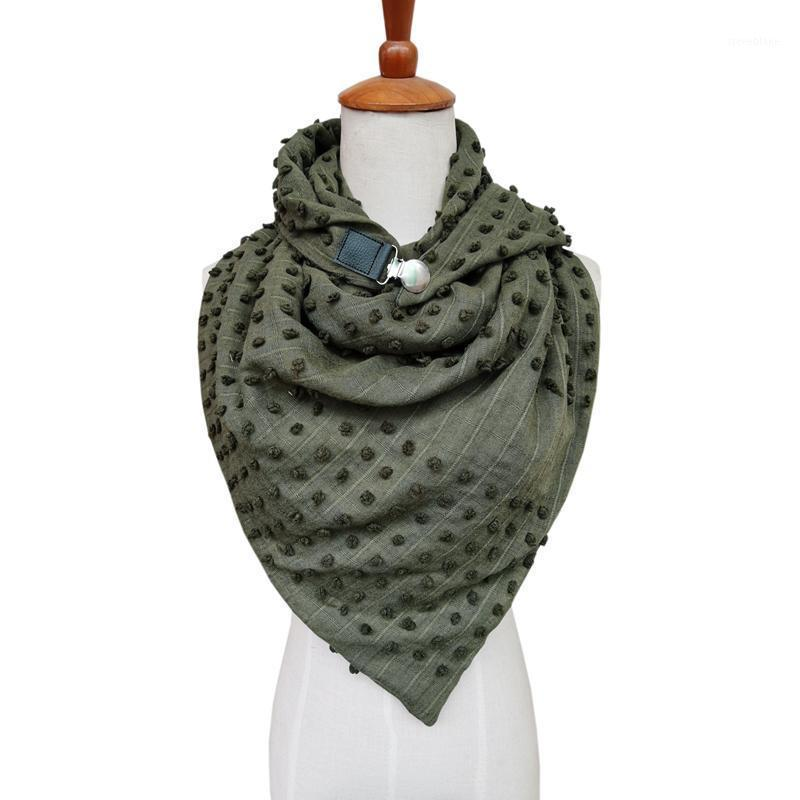Шарфы зимний шарф для женщин Follack Soild Dot 3d кнопка дизайн эхарпе цыган беглый теплый теплый sjaal женщина намотал и шальсы1
