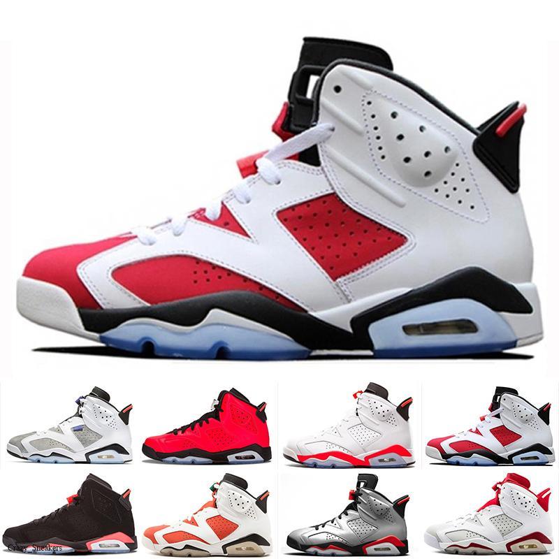 6s infrarouge réfléchissant chaussures de basket-ball hommes Top Olympic Oreo Sport Bleu DMP colère taureau blanc Athletic Desinger Sneakers 7-13