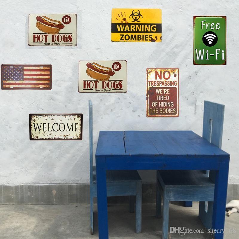 2021 Cuisine Rule Tin Panneaux Plaque en métal Plaque Mur Pub Cuisine Restaurant Accueil Art Art Décor Vintage Affiche de fer Cuadros Art mural Tableaux modernes