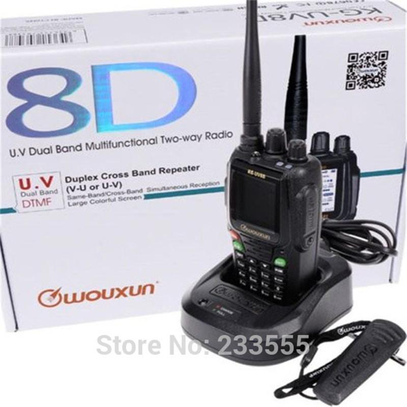 10шт NEW Радио Walkie Talkie Wouxun KG-UV8D VHF / UHF 134-174 / 400-520MHz 999CH Two Way Радио Портативный Приемопередатчик