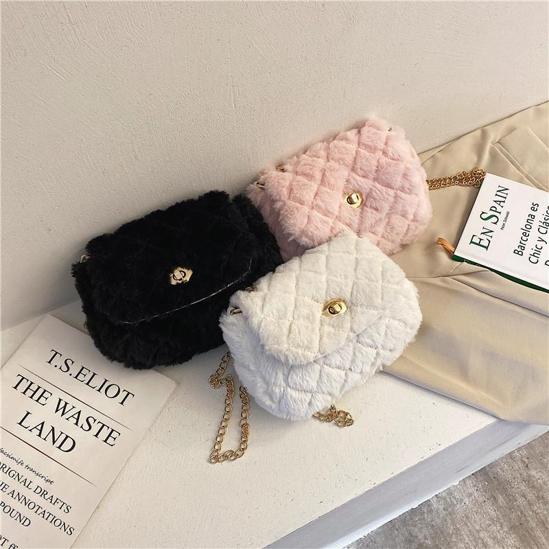 Ladies Crossbody Style Tote Plush New Women Soft Bag Girl's Shoulder Versatile Cute Fashion Japanese-style Girl Handbag Neluj