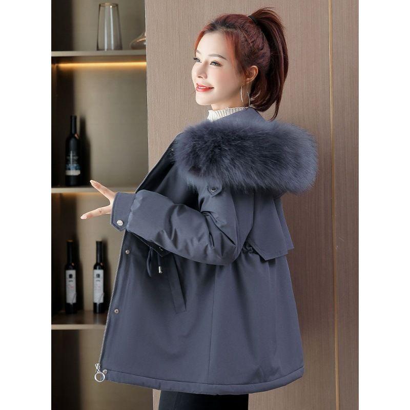 Adicione e engrossar para superar a jaqueta curta para mulheres