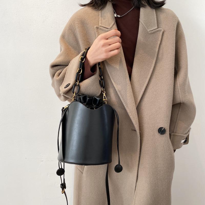 Mini Solid Fashion Secchio in pelle Semplice PU Color Designer Crossbody Shoulder Catena Borse e Borse Borse di lusso Borse Borse Totes Upcw