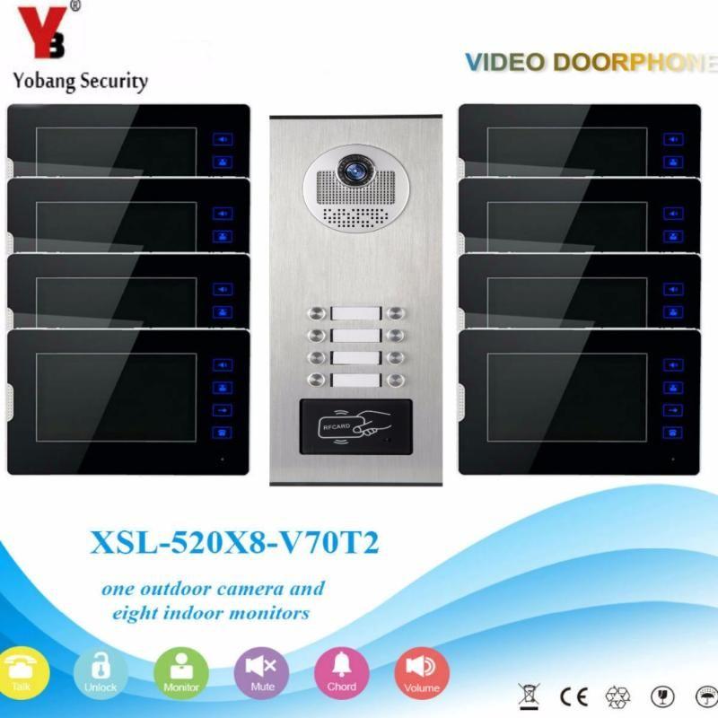 Yobang Sicherheit 2-12 Einheiten Tür-Kamera Security Intercom System Video-Türsprechanlage Türklingel mit Touch Key Überwachungsmonitor