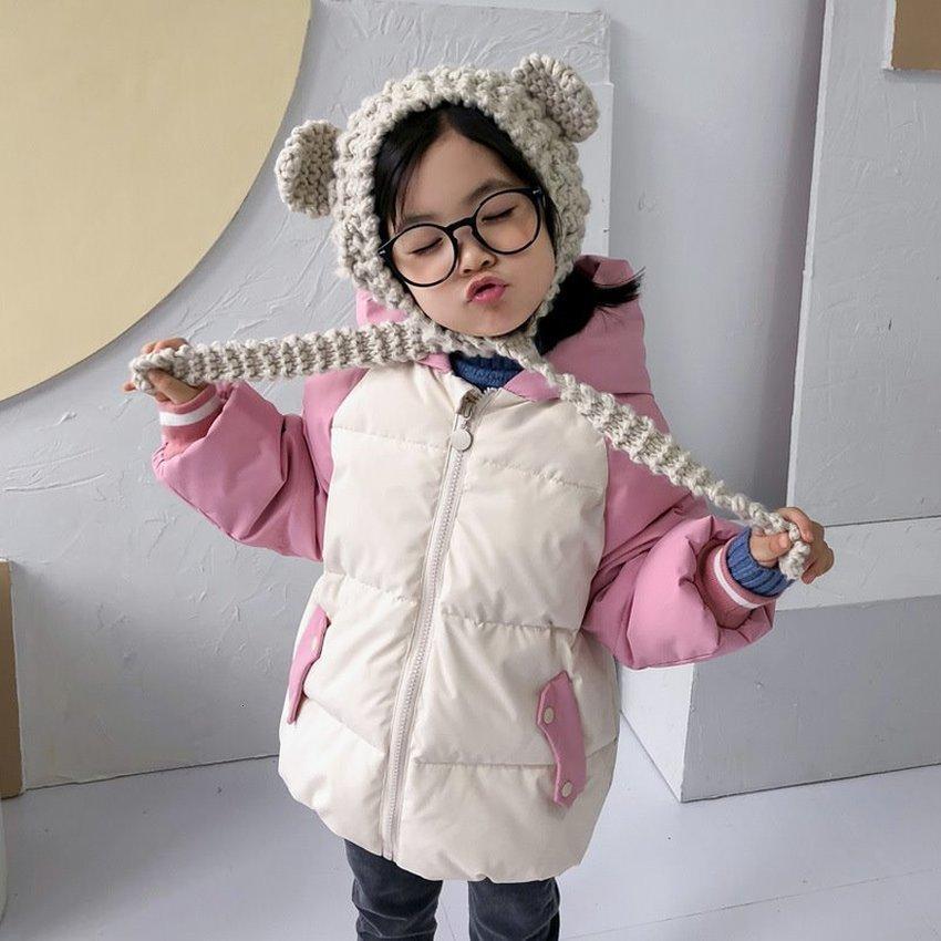 2020 Infantil Down Jacket Coat para bebé Crianças Coats Versão Coreana curto e grosso dos desenhos animados Inverno