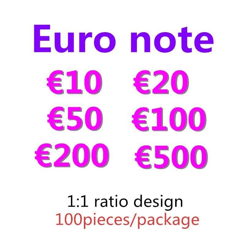 Token Festliche gefälschte Sammlungen 500 Spielzeugprop 50 10 100 billet 20 Geld Kinder Euro-Kopie Partyspiele Faux 200 Geld Geschenke 09 Ihhlu