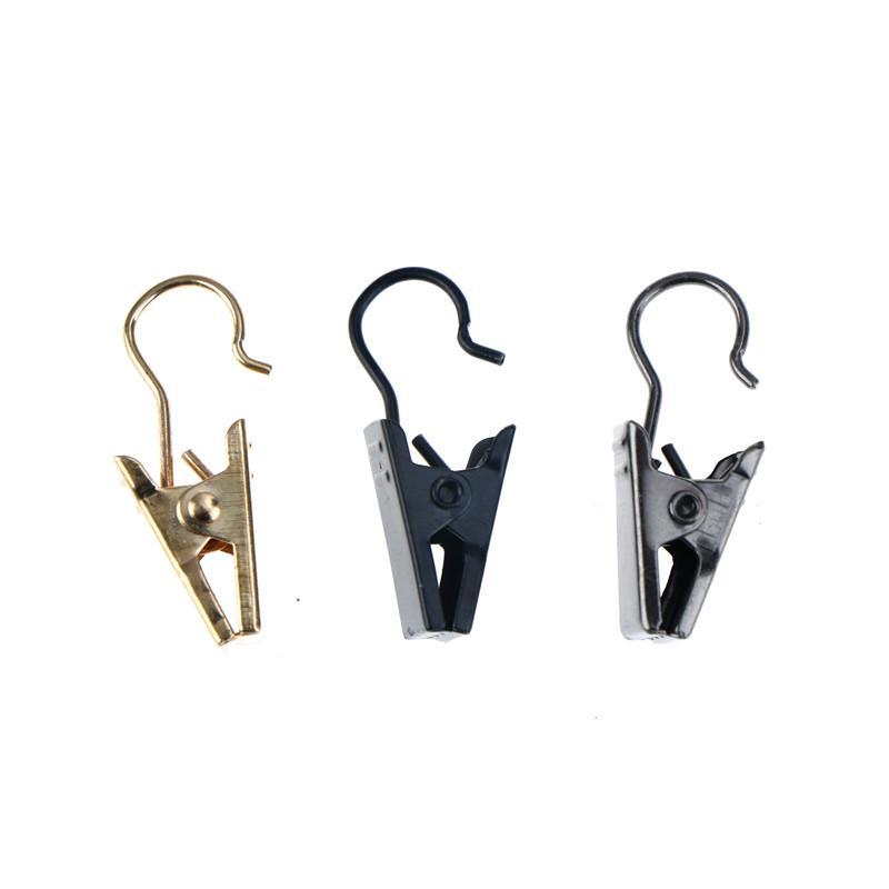 100pcs / Window душ карниз клипы крюк Clips Кольца Зажимы Set Мода из нержавеющей стали Прищепки