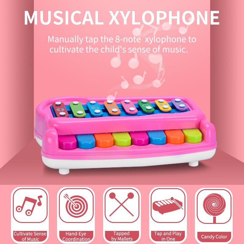 Coloré bébé 16-Note Xylophone Piano Instrument de musique Jouet enfants Early Education Tout-petits mobiles Jouets pour Garçons Filles