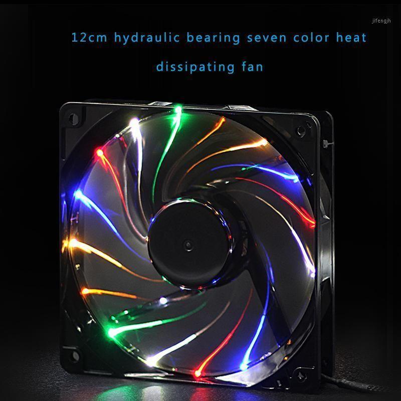 120mm 4pin + 3Pin mudo multicolorido led case1