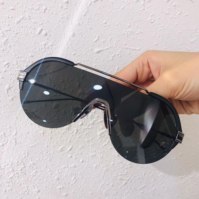 2020 Fashion Onepiece Half Box One Shades Women Gafas de sol degradado con marco de pieza de gafas Cubierta de marca Hombres LVBQM