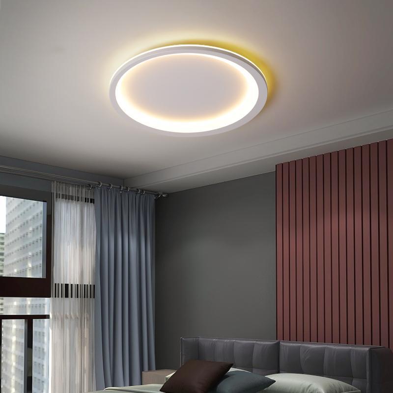 Rund Moderne LED-Deckenleuchter für Schlafzimmer Balkon Aisle Flur Küche Grau Weiß Acryl Kronleuchter Beleuchtung