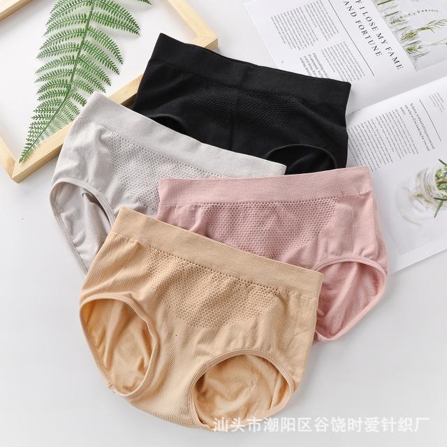 Sous-vêtements pour femmes 3D chaleureux Sous-vêtements pour femmes Haute ventre élastique Band de coton sans soudure de coton respirant
