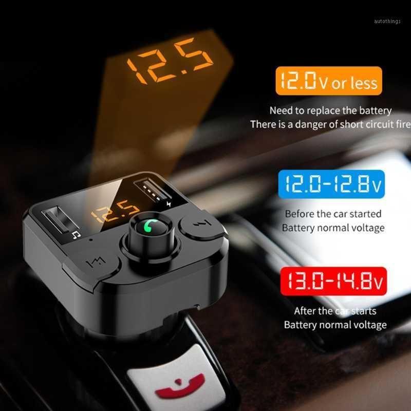 ZK30 Coche FM Transmisor Bluetooth inalámbrico Kit de manos libres FM Recepción LCD Player MP3 Kit de automóvil 3.1A Manos rápidas Free USB Charger1