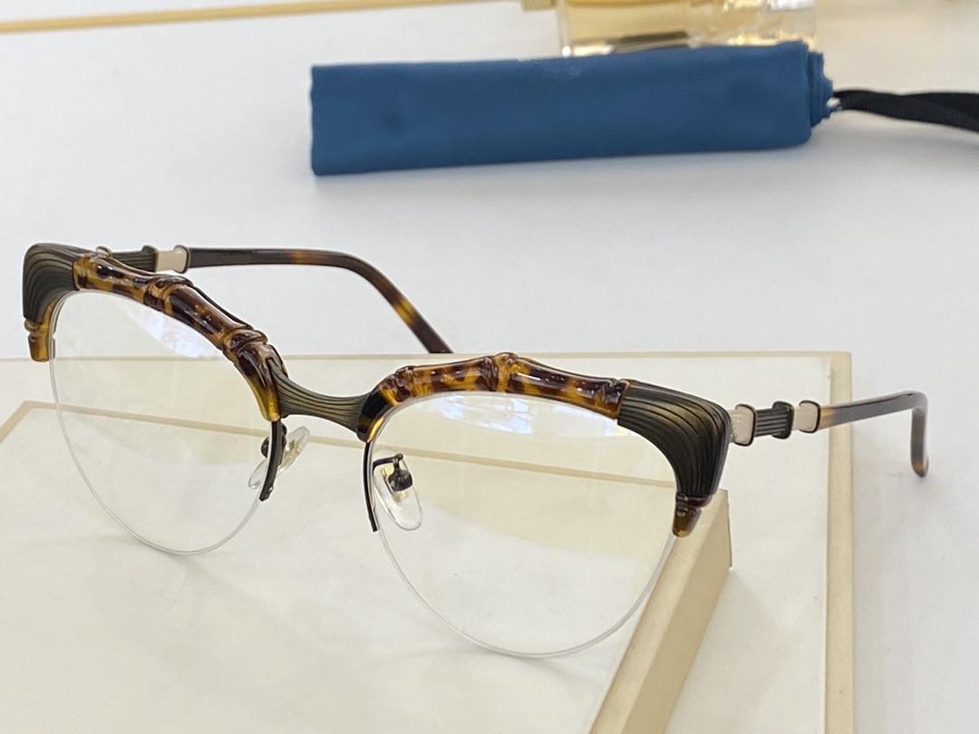 "2021 New Fashion Style Bamboo Frame Medio Marco Glasses Moda Temperamento 0661 Hombres Y Mujeres Del mismo tamaño 56 ""20"" 146"