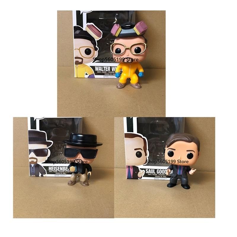 Breaking Bad Pop Heisenberg Saul Goodman Walter White Vinyl Action Figuren Brinquedos Collection Modell Spielzeug mit Box 201202