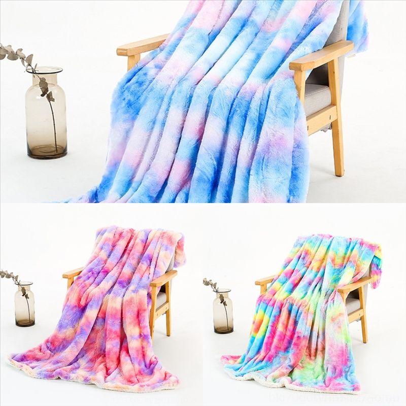 B7h cão impresso bebê garoto cobertor sherpa lã cobertor arco-íris cores de alta qualidade desenhos animados colorido plush lance cobertor cm minky adulto
