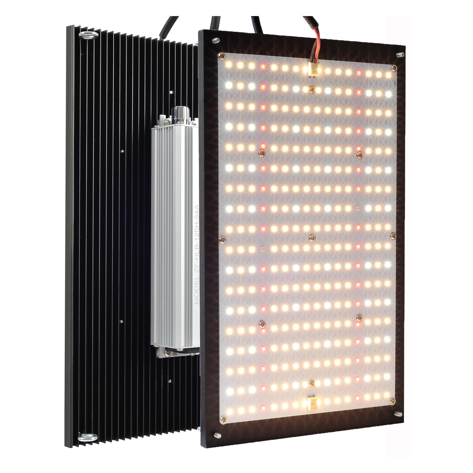 120W LED تنمو الضوء 2x2ft تغطية متوافقة مع سامسونج LM281B + الثنائيات عكس الضوء التجارية 1000 واط الطيف الكامل أدى المصابيح المتنامية للنباتات الداخلية