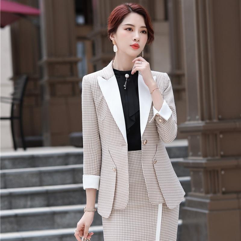 Abiti da donna Blazer Fashion Casual Blazer Blazer Blazer Donne e Giacca Set Ladies Lavoro Usura Costumi Femmina Ufficio Stili uniformi