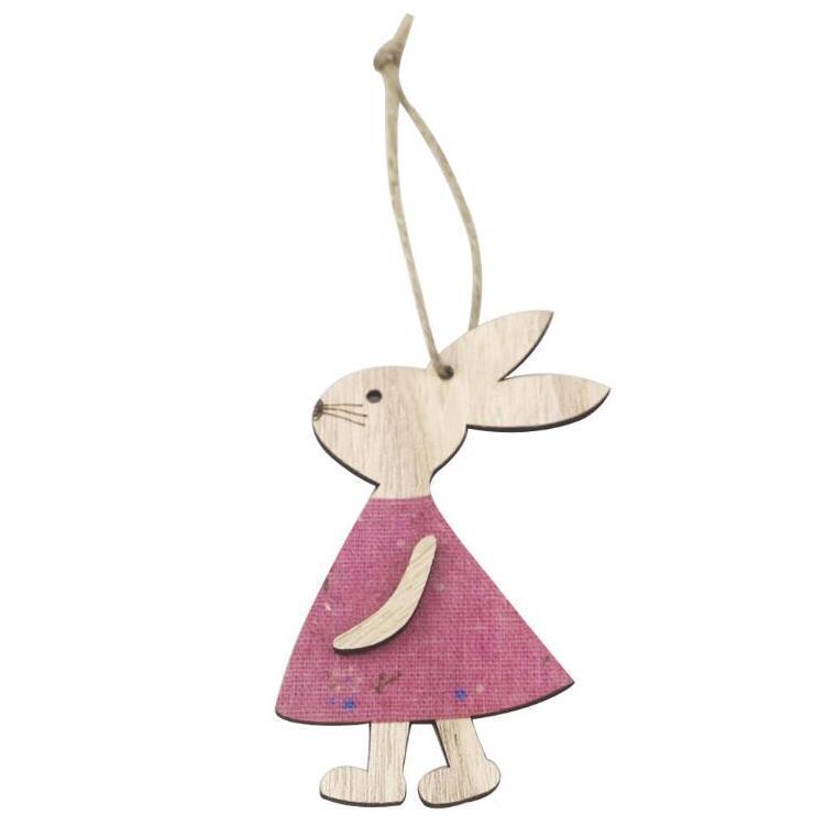 Pascua Colgantes de madera Decoraciones Colgante DIY Tallado Conejo Colgantes Colgantes Colgantes Ornamentos Creativos Artesanía de madera Favores Favores PPD4048