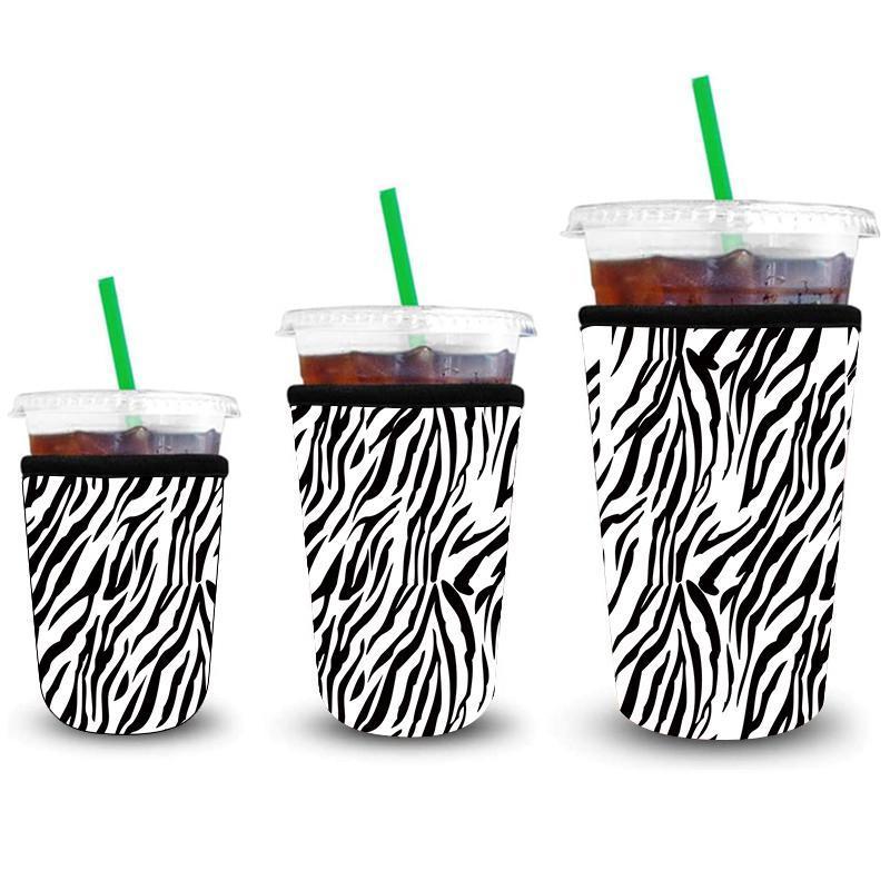 Eiste Kaffeeärmeln 3 Packung Wiederverwendbare Eiskunsthülse Isolator Tasse Hülse Für kalte Getränke Getränke NEOPRENE Tasse Halter FWA3137