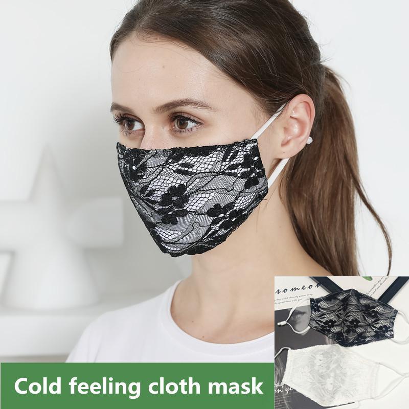 Cotton Rosto máscara do laço duplo respirável Fina Designer Máscara Facial reutilizável Moda Cloth Boca Máscara Mulheres poeira máscaras ajustável FWE2296
