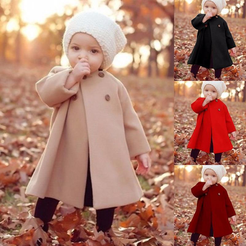 Baby girl abrigo otoño nueva moda abrigo de lana de moda para niñas chaqueta de otoño cálido prendas exteriores largas niños a prueba de viento a prueba de viento recién nacidos baby baby coats1