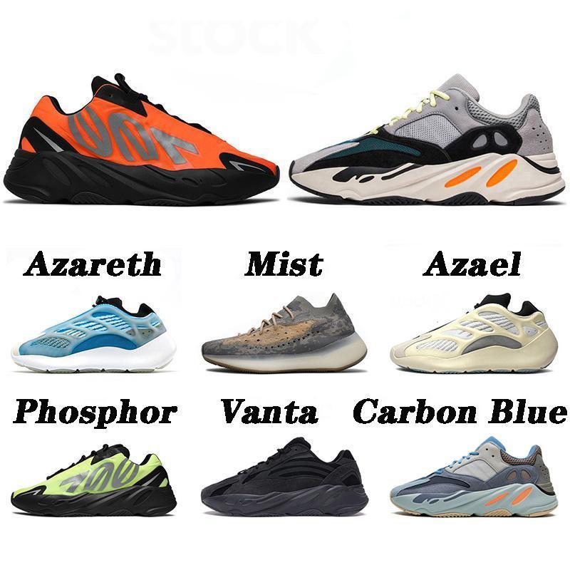 Nueva Calidad Kanye West 700 V2 zapatos para correr Azareth Azael Orange Carbon Blue Sports Zapatos SRPHYM MAGNET MUJERES, ZAPATOS DEPORTES DE HOMBRES