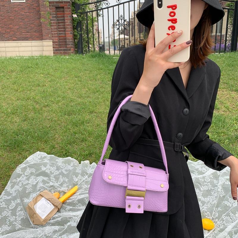 Axila para 2020 Primavera nova moda de verão bagb estilo francês pequeno textura de massa avançada saco sentido método vara Shoulder Bag ombro da mulher