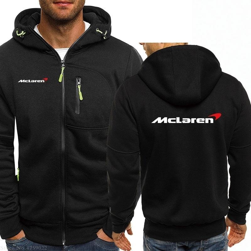 Модные толстовки для осени Sping Simple McLaren Толстовка мужчин / женщин повседневные пальто с капюшоном Mens Zipper 201127