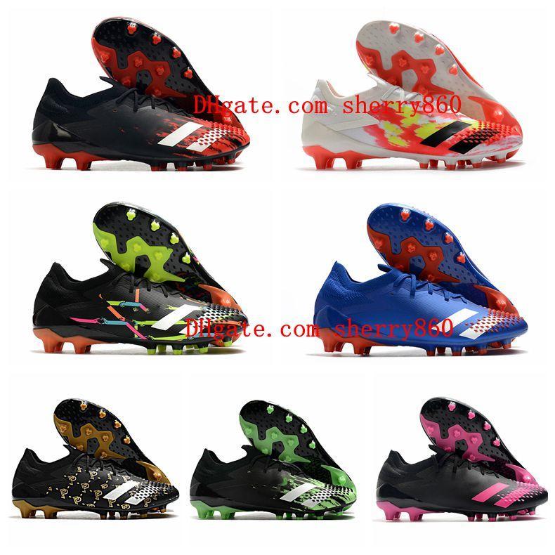 2020 Mens Soccer Shoes Predator Mutador 20.1 Low AG Futebol Cleats Outdoor Football Boots Scarpe da Calcio Predator 20 Quente