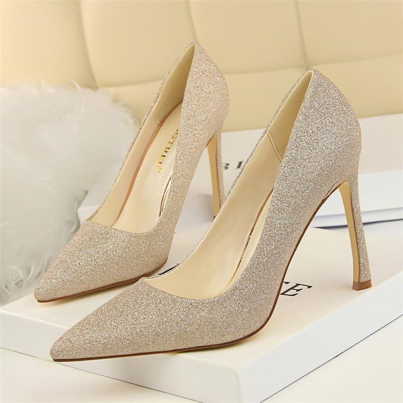 Блеск каблуки вечеринки обувь для женщин экстремальные высокие каблуки женские насосы элегантные туфли для женщины фетиш высокое платье
